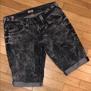 True religion slim denim jeans shorts pants